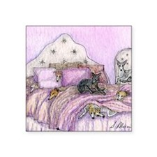 "Sighthounds slumber party Square Sticker 3"" x 3"""
