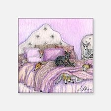 """Sighthounds slumber party Square Sticker 3"""" x 3"""""""