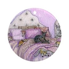 Sighthounds slumber party Round Ornament