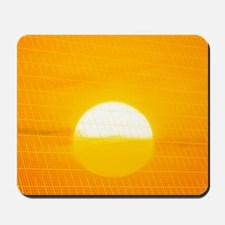 Sunset reflection on solar panel, artwor Mousepad