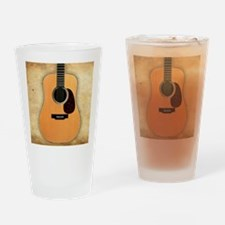 Acoustic Guitar (square) Drinking Glass