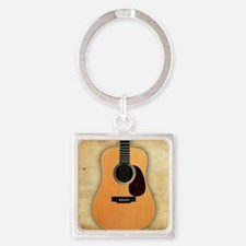 Acoustic Guitar (square) Square Keychain