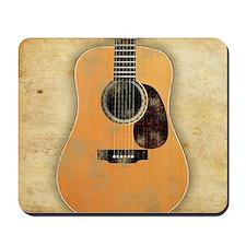 Acoustic Guitar worn (square) Mousepad
