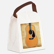 Acoustic Guitar (square) Canvas Lunch Bag