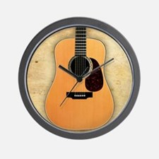 Acoustic Guitar (square) Wall Clock