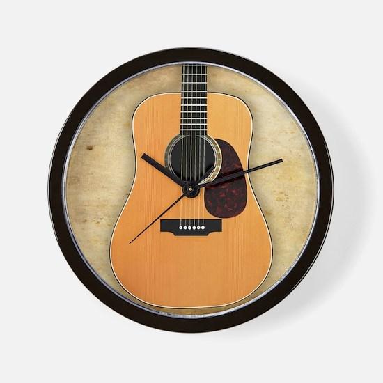 Acoustic Guitar (square) Wall Clock