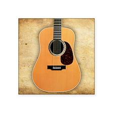 "Acoustic Guitar (square) Square Sticker 3"" x 3"""