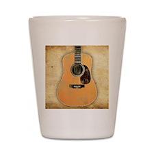 Acoustic Guitar worn (square) Shot Glass