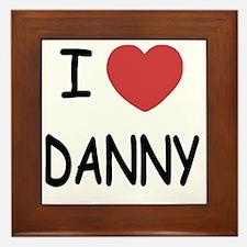 I heart DANNY Framed Tile