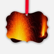 Stromboli double eruption Ornament
