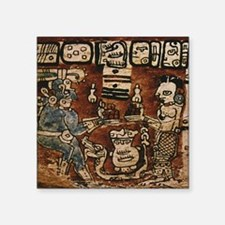 "MAYAN COCOA CEREMONY Square Sticker 3"" x 3"""