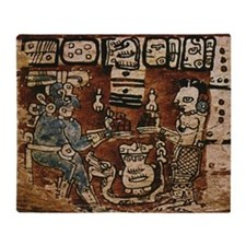 MAYAN COCOA CEREMONY Throw Blanket