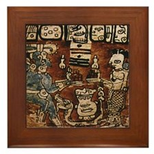 MAYAN COCOA CEREMONY Framed Tile