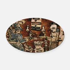 MAYAN COCOA CEREMONY Oval Car Magnet