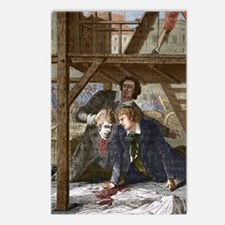 Studying a guillotined he Postcards (Package of 8)