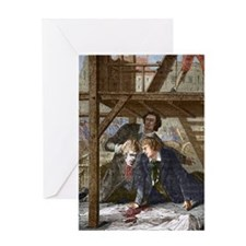 Studying a guillotined head, Mainz 1 Greeting Card