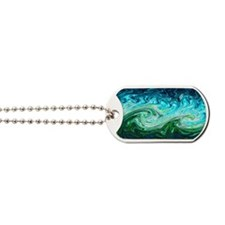 Storm waves, chaos model Dog Tags