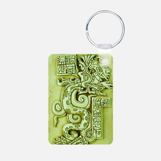 MAYAN SERPENT GOD Aluminum Photo Keychain