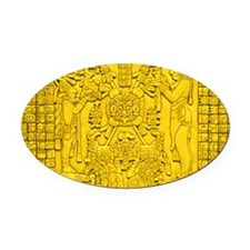 MAYAN TABLET OF THE SUN Oval Car Magnet