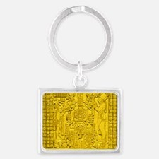 MAYAN TABLET OF THE SUN Landscape Keychain