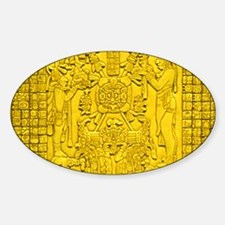 MAYAN TABLET OF THE SUN Sticker (Oval)