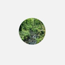 Stream and woodland in Devon Mini Button