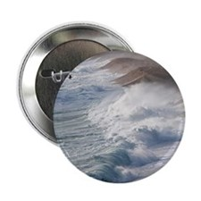 """Storm waves at Chesil Beach 2.25"""" Button"""