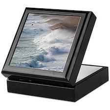 Storm waves at Chesil Beach Keepsake Box