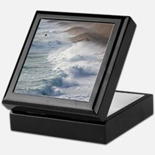 Storm waves at Chesil Beach Keepsake Box