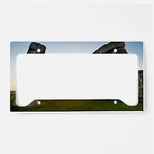 Stonehenge at sunrise License Plate Holder
