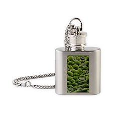 Stomata on epidermis of rose leaf Flask Necklace