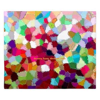 Rainbow Colors King Duvet