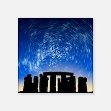 """Star trails over Stonehenge Square Sticker 3"""" x 3"""""""
