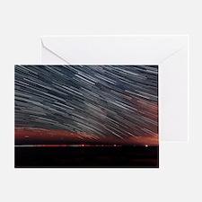 Star trails Greeting Card