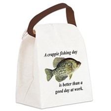 Cute Fishing Canvas Lunch Bag