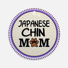Japanese Chin Dog Mom Ornament (Round)