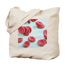 Stacked red blood cells, SEM Tote Bag