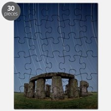 Star trails over Stonehenge Puzzle