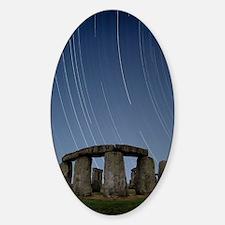 Star trails over Stonehenge Sticker (Oval)