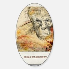 Planet of the apes Sticker (Oval)