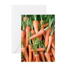 Stack of orange carrots Greeting Card