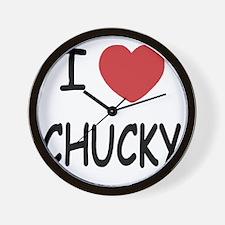 I heart CHUCKY Wall Clock