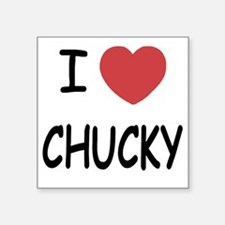 "I heart CHUCKY Square Sticker 3"" x 3"""