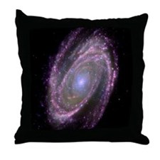 Spiral galaxy M81, composite image Throw Pillow
