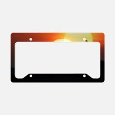 Spring equinox sunset, compos License Plate Holder