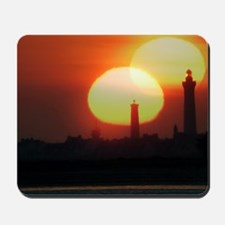 Spring equinox sunset, composite image Mousepad