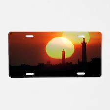Spring equinox sunset, comp Aluminum License Plate