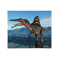 Spinosaurus dinosaur, artwork Throw Blanket