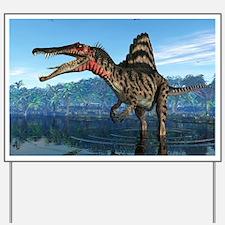 Spinosaurus dinosaur, artwork Yard Sign