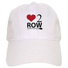 Love 2 Row Baseball Baseball Cap
